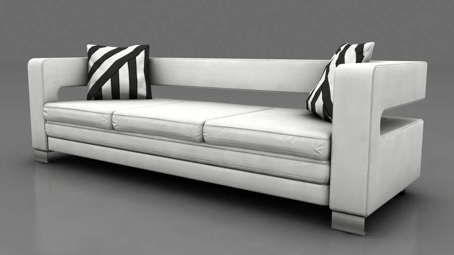 modern couch sofa royalty-free 3d model - Preview no. 3