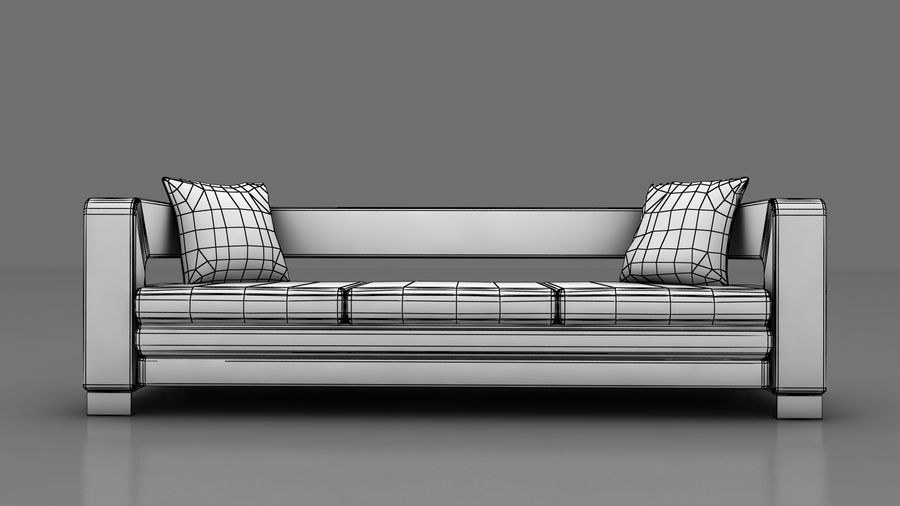 modern couch sofa royalty-free 3d model - Preview no. 8