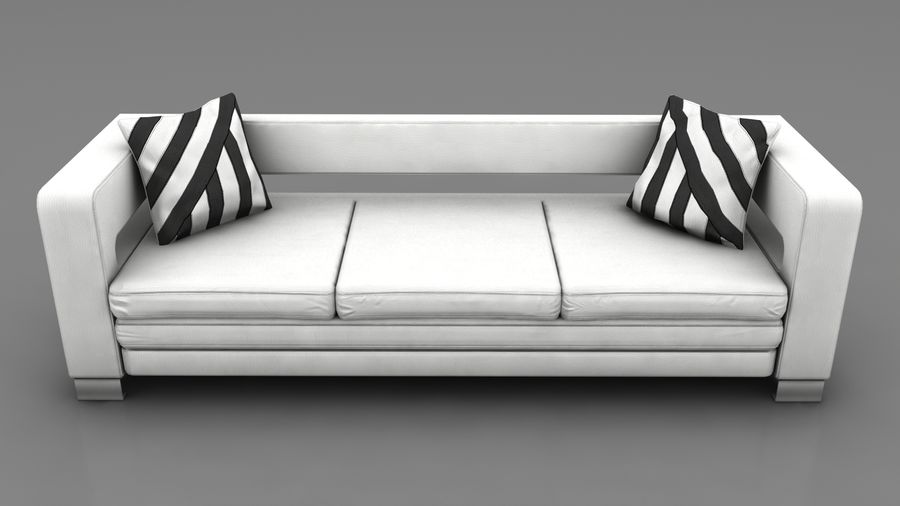 modern couch sofa royalty-free 3d model - Preview no. 2