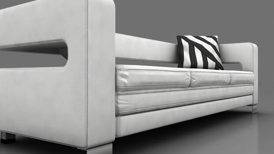 modern couch sofa royalty-free 3d model - Preview no. 9
