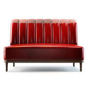 Holborn Dining Lounge Sofa 3d model