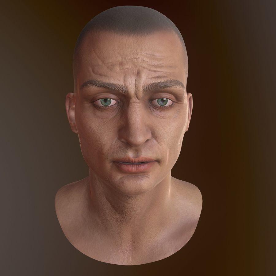 Karakter hoofd royalty-free 3d model - Preview no. 10