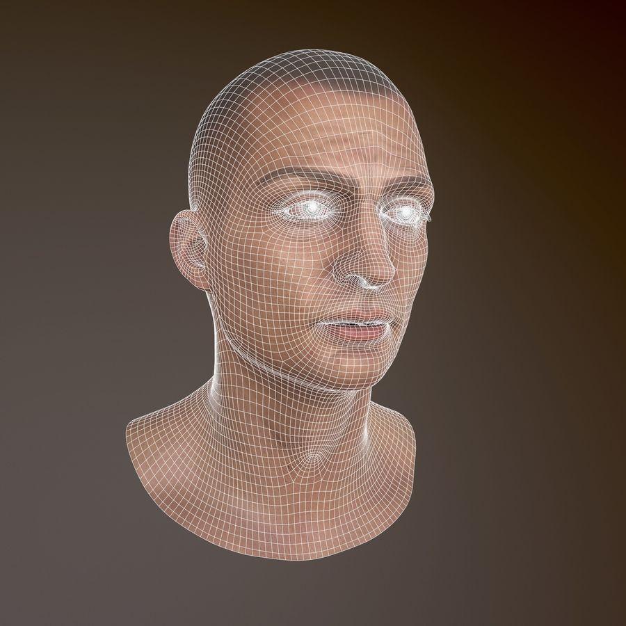 Karakter hoofd royalty-free 3d model - Preview no. 3