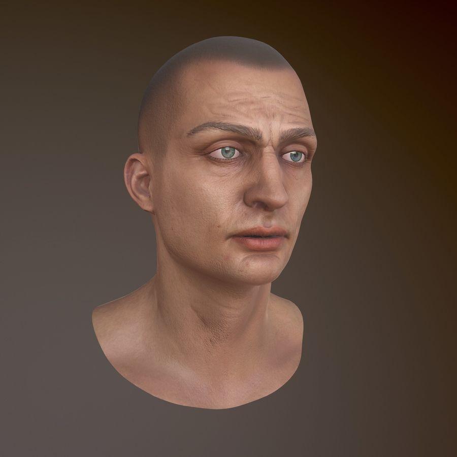 Karakter hoofd royalty-free 3d model - Preview no. 2