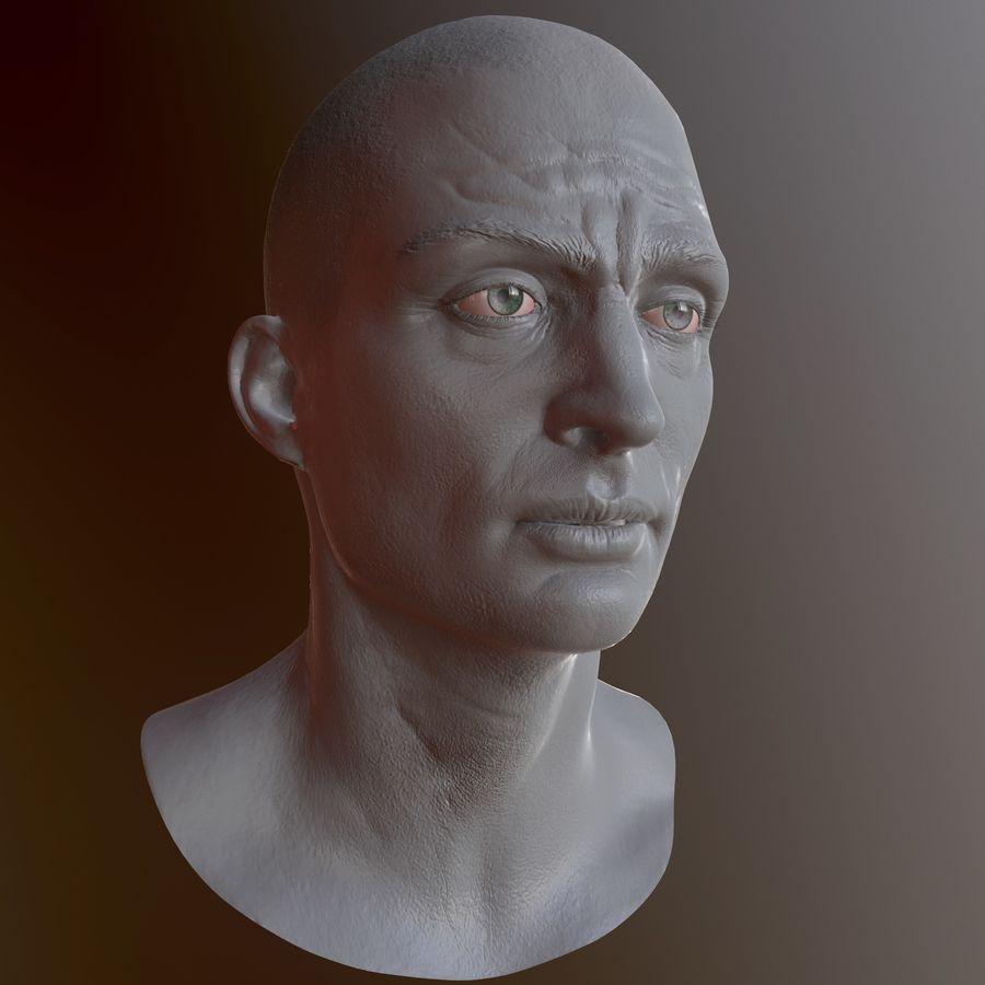 Karakter hoofd royalty-free 3d model - Preview no. 11