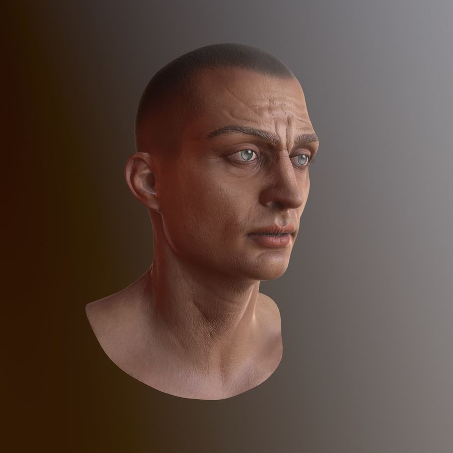 Karakter hoofd royalty-free 3d model - Preview no. 7