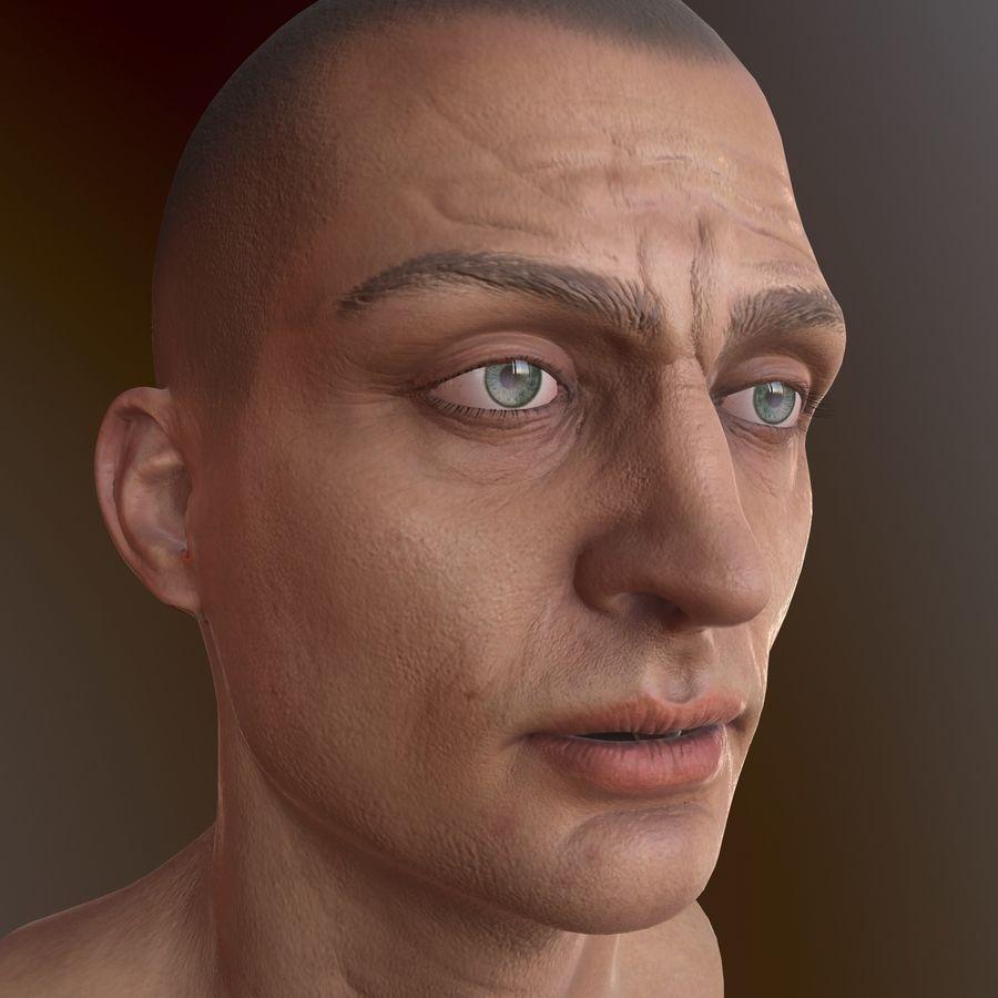 Karakter hoofd royalty-free 3d model - Preview no. 14