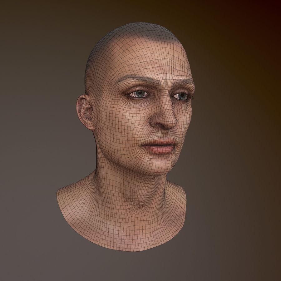 Karakter hoofd royalty-free 3d model - Preview no. 4