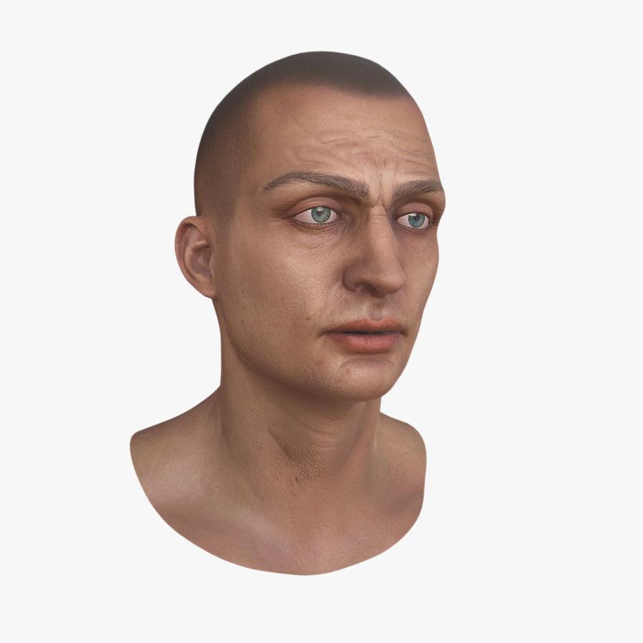 Karakter hoofd royalty-free 3d model - Preview no. 1