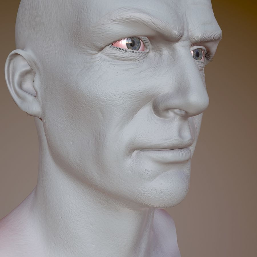 Cabeça masculina royalty-free 3d model - Preview no. 15