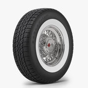 经典钢丝轮和轮胎BFG 3d model