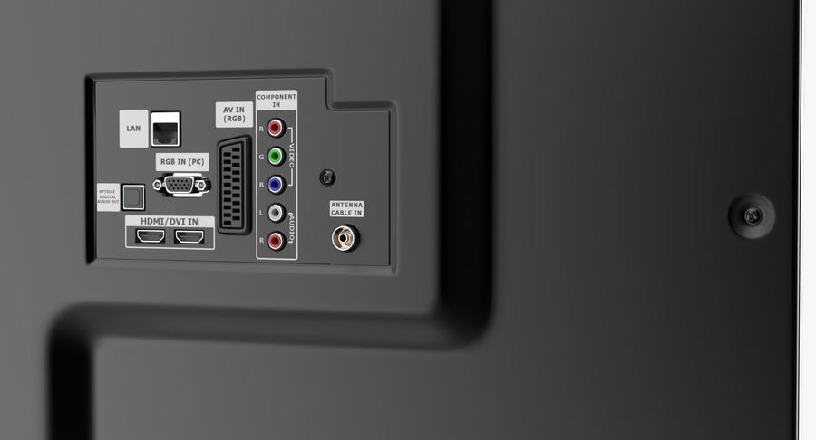 LED-TV royalty-free 3d model - Preview no. 6
