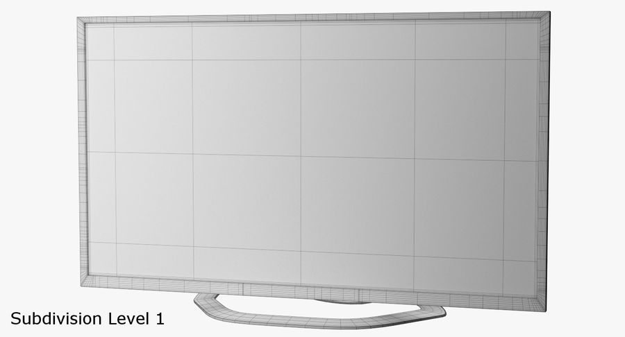 LED-TV royalty-free 3d model - Preview no. 10