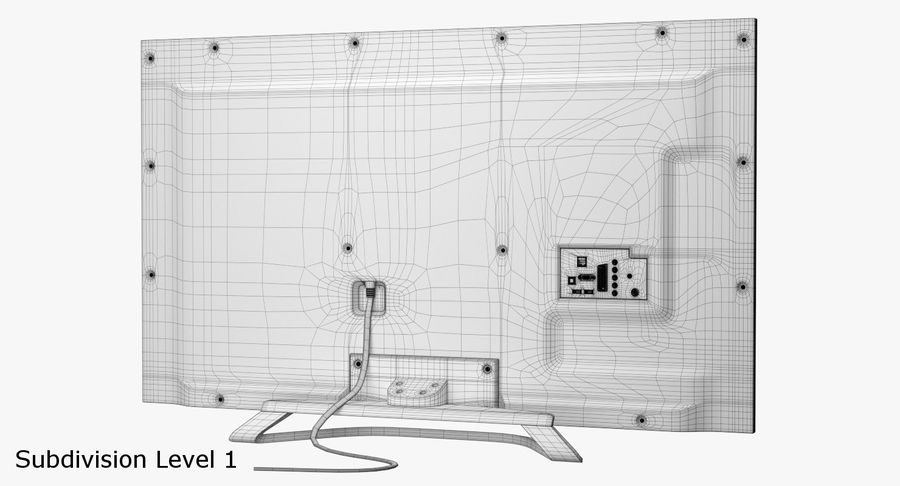 LED-TV royalty-free 3d model - Preview no. 13