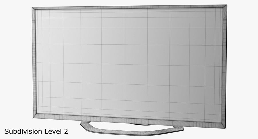 LED-TV royalty-free 3d model - Preview no. 11
