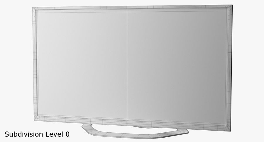LED-TV royalty-free 3d model - Preview no. 9