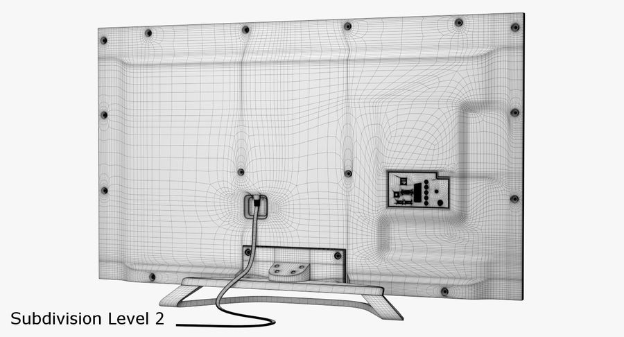 LED-TV royalty-free 3d model - Preview no. 14