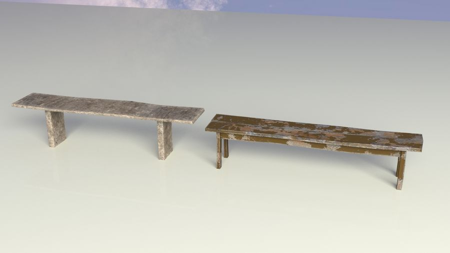 Entourage | Game Ready | Benches | Flower Bed | Border | Hanger | Watering can royalty-free 3d model - Preview no. 7