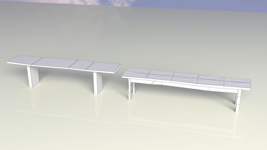 Entourage | Game Ready | Benches | Flower Bed | Border | Hanger | Watering can royalty-free 3d model - Preview no. 8