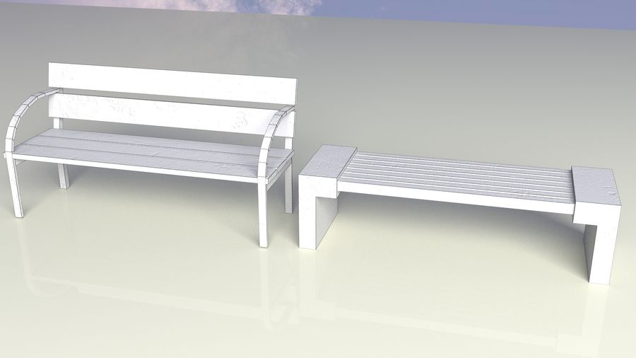 Entourage | Game Ready | Benches | Flower Bed | Border | Hanger | Watering can royalty-free 3d model - Preview no. 4