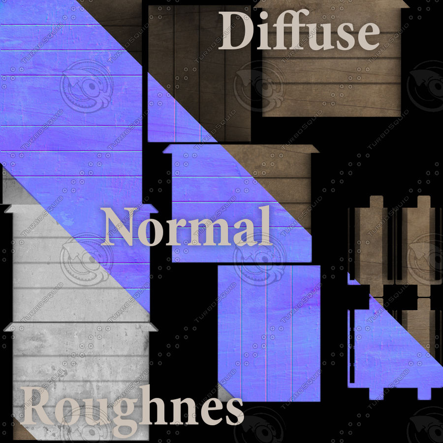 Entourage | Game Ready | Benches | Flower Bed | Border | Hanger | Watering can royalty-free 3d model - Preview no. 2
