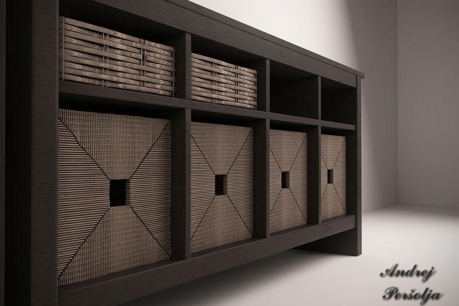 Suporte de TV IKEA e Gabinete da China royalty-free 3d model - Preview no. 3