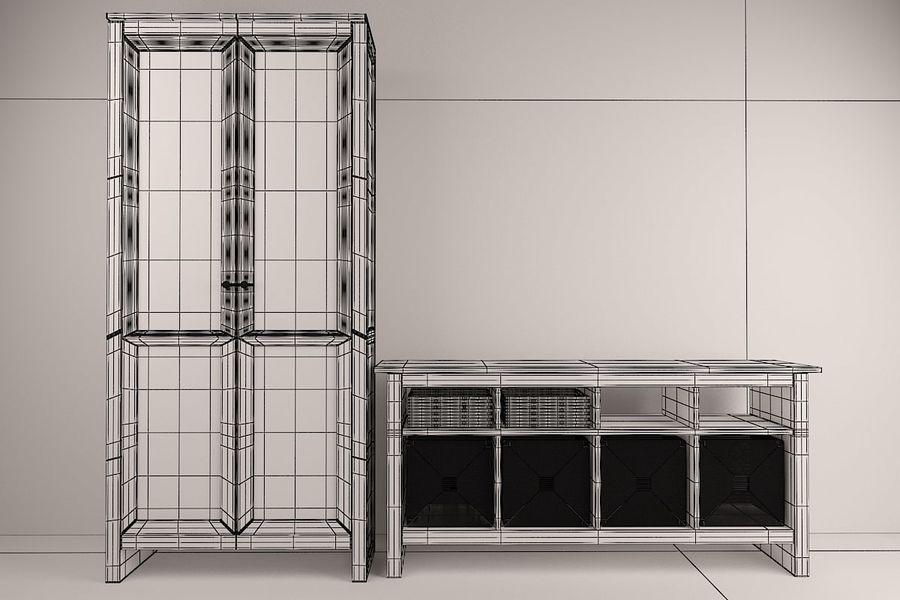 Suporte de TV IKEA e Gabinete da China royalty-free 3d model - Preview no. 5