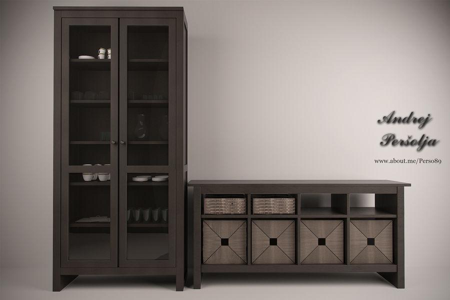 Suporte de TV IKEA e Gabinete da China royalty-free 3d model - Preview no. 1
