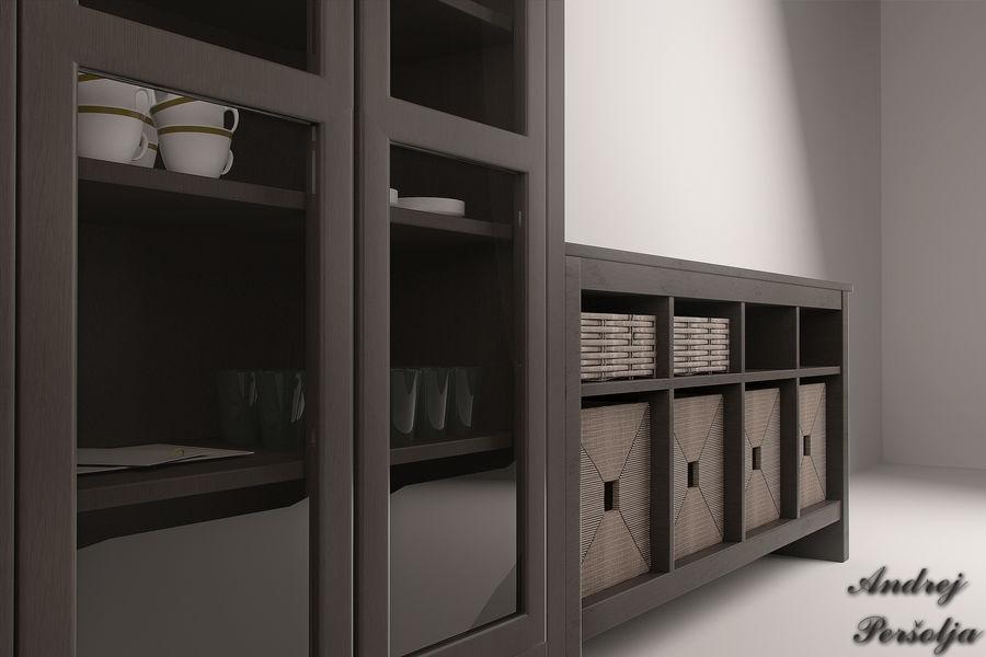 Suporte de TV IKEA e Gabinete da China royalty-free 3d model - Preview no. 2