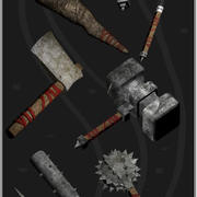Lowpoly Medieval Weaponry Pack 1 3d model