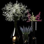 Torra blommor 3d model