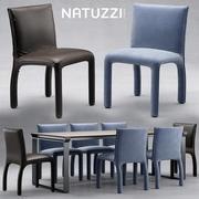 Стол и стул натуззи Хэди 3d model
