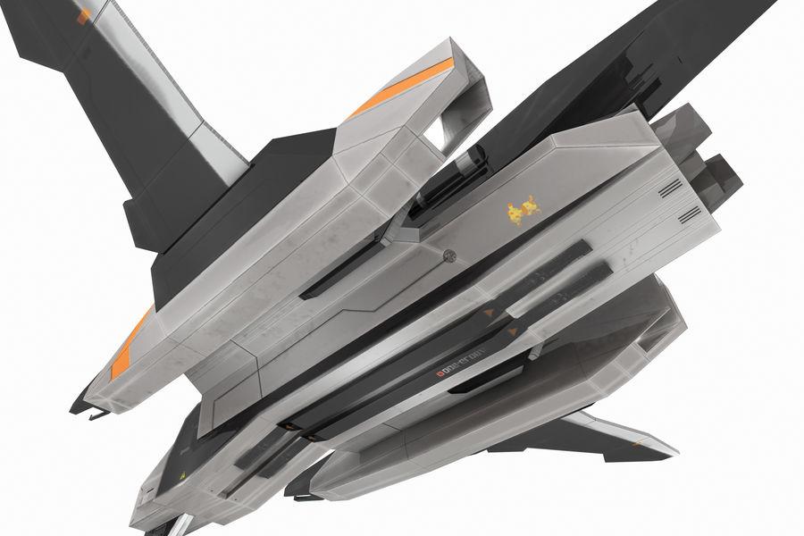 SciFi - Avion - Iron 031 royalty-free 3d model - Preview no. 7