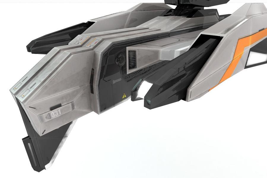 SciFi - Avion - Iron 031 royalty-free 3d model - Preview no. 5