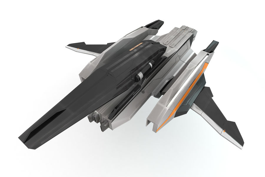 SciFi - Avion - Iron 031 royalty-free 3d model - Preview no. 2