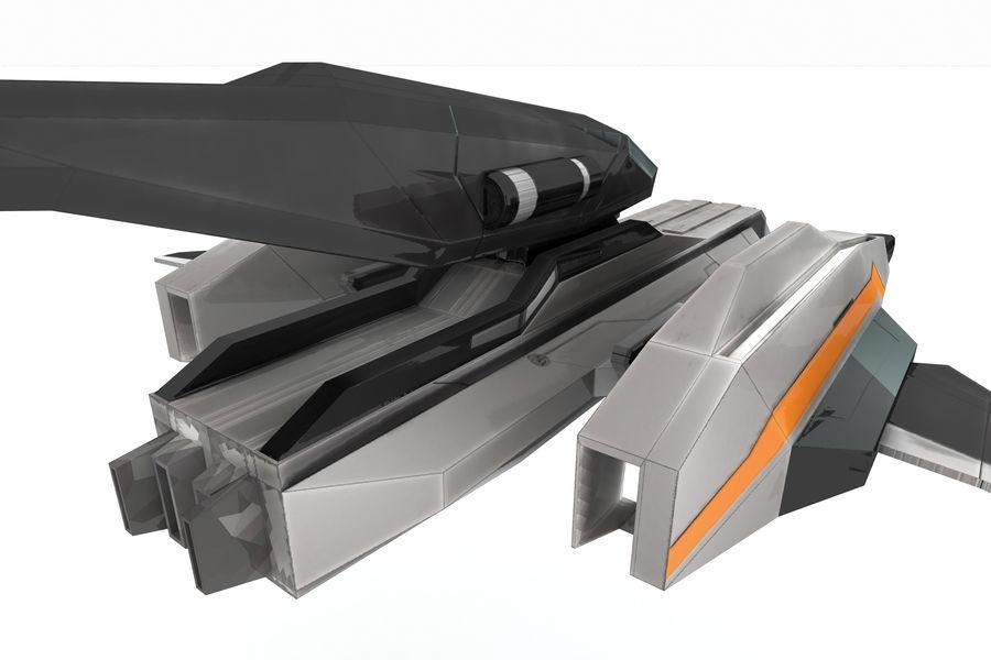 SciFi - Avion - Iron 031 royalty-free 3d model - Preview no. 6