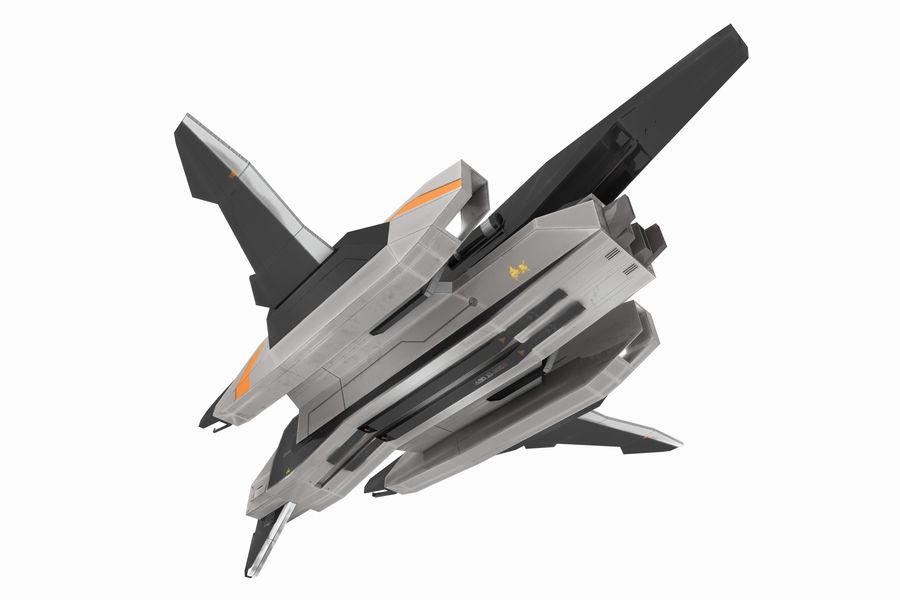 SciFi - Avion - Iron 031 royalty-free 3d model - Preview no. 3