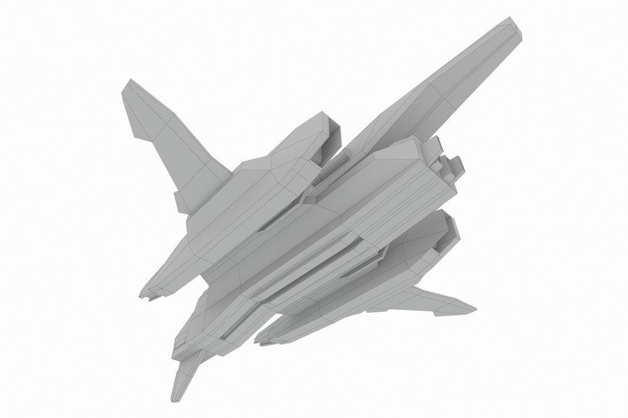 SciFi - Avion - Iron 031 royalty-free 3d model - Preview no. 10