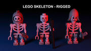 Lego Skeleton - Rigged 3d model