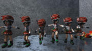 게임 여성 캐릭터 3d model