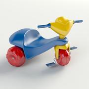Plast trehjuling 3d model