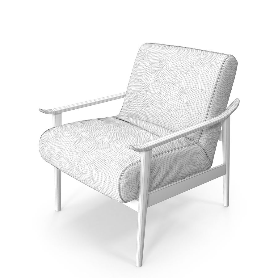 West Elm Mid Century Leather Show Wood Chair 3d Model 25 Obj Max Fbx Free3d