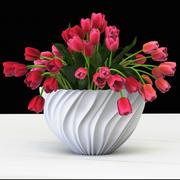 bouquet of tulips 3d model