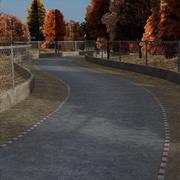 Race Track - In Autumn Forest 3d model
