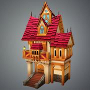 低聚老房子 3d model