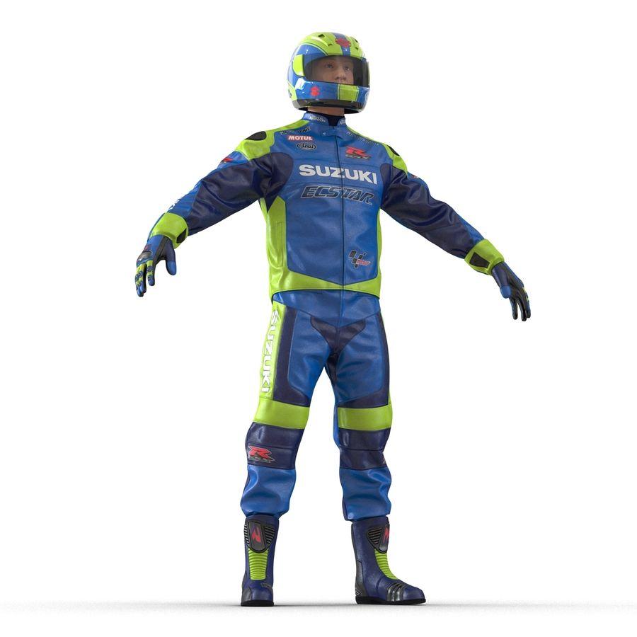Motosiklet Sürücüsü royalty-free 3d model - Preview no. 13