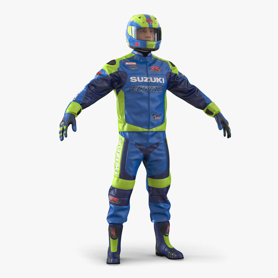 Motosiklet Sürücüsü royalty-free 3d model - Preview no. 1