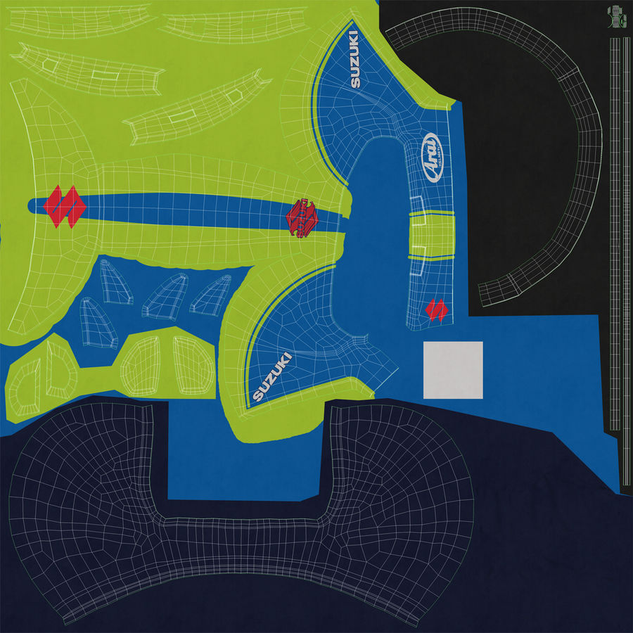Motosiklet Sürücüsü royalty-free 3d model - Preview no. 49