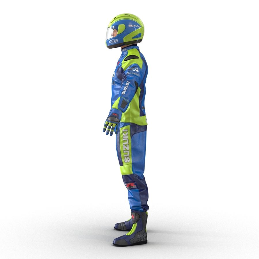 Motosiklet Sürücüsü royalty-free 3d model - Preview no. 10