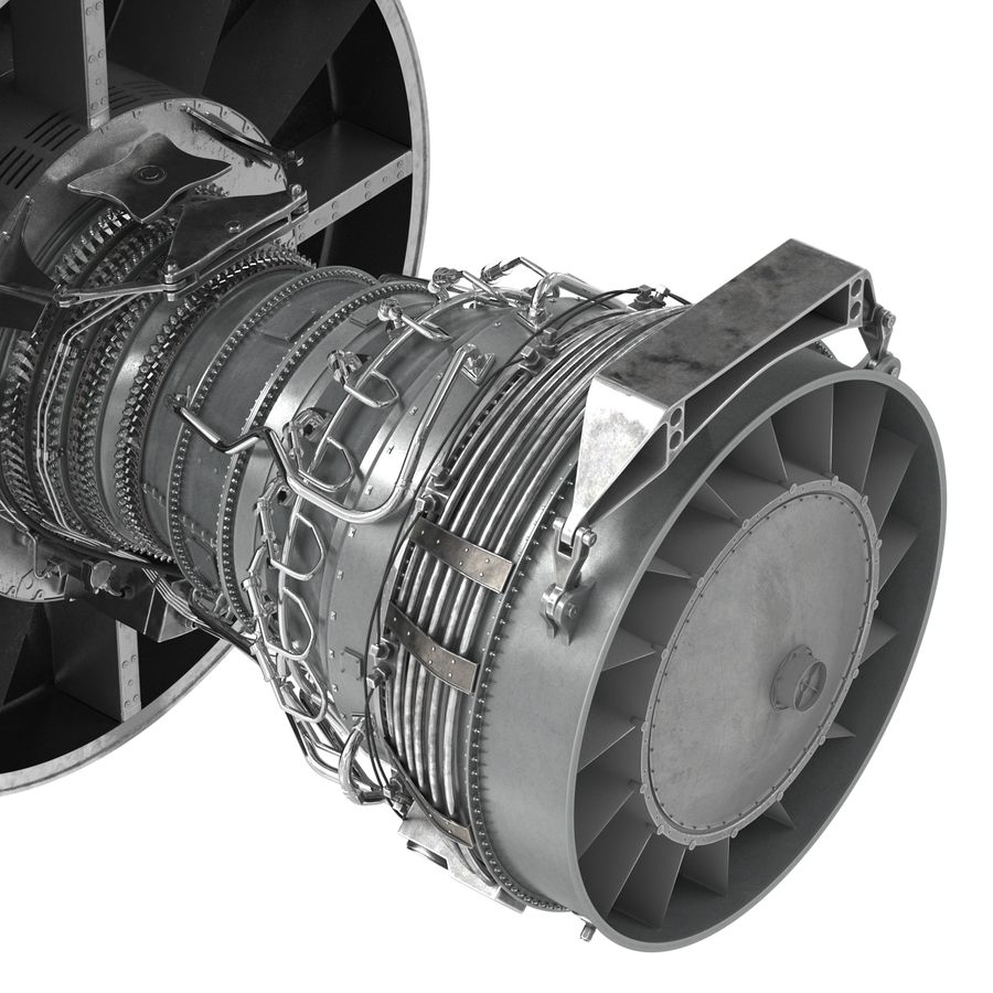 Turbofan Aircraft Engine royalty-free 3d model - Preview no. 15